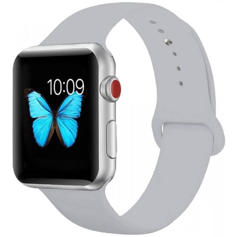 Ремешок для Apple Watch Series 4/3/2/1 44-42 мм серый силиконовый
