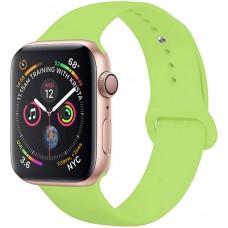 Ремешок для Apple Watch Series 4/3/2/1 44-42 мм зеленый силиконовый