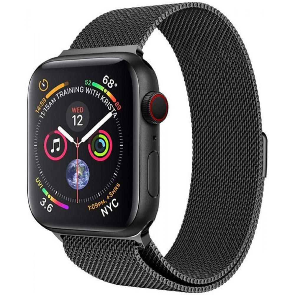 Браслет для Apple Watch Series 4 44-42 мм металлический цвет черный