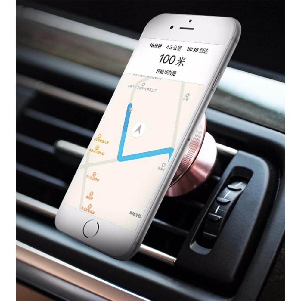 Держатель для смартфона AWEI X5 магнитный, цвет розовый