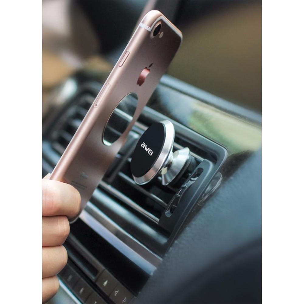 Держатель для смартфона AWEI X5 магнитный, цвет серебро
