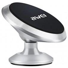 Держатель AWEI X6 магнитный, цвет серебро