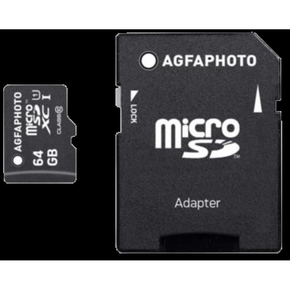 AgfaPhoto Mobile MicroSDXC 64 GB UHS1
