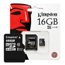 Kingston microSDHC UHS-I Class 10 16GB + SD адаптер