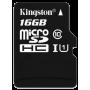 Kingston microSDHC UHS-I Class 10 16GB + SD адаптер