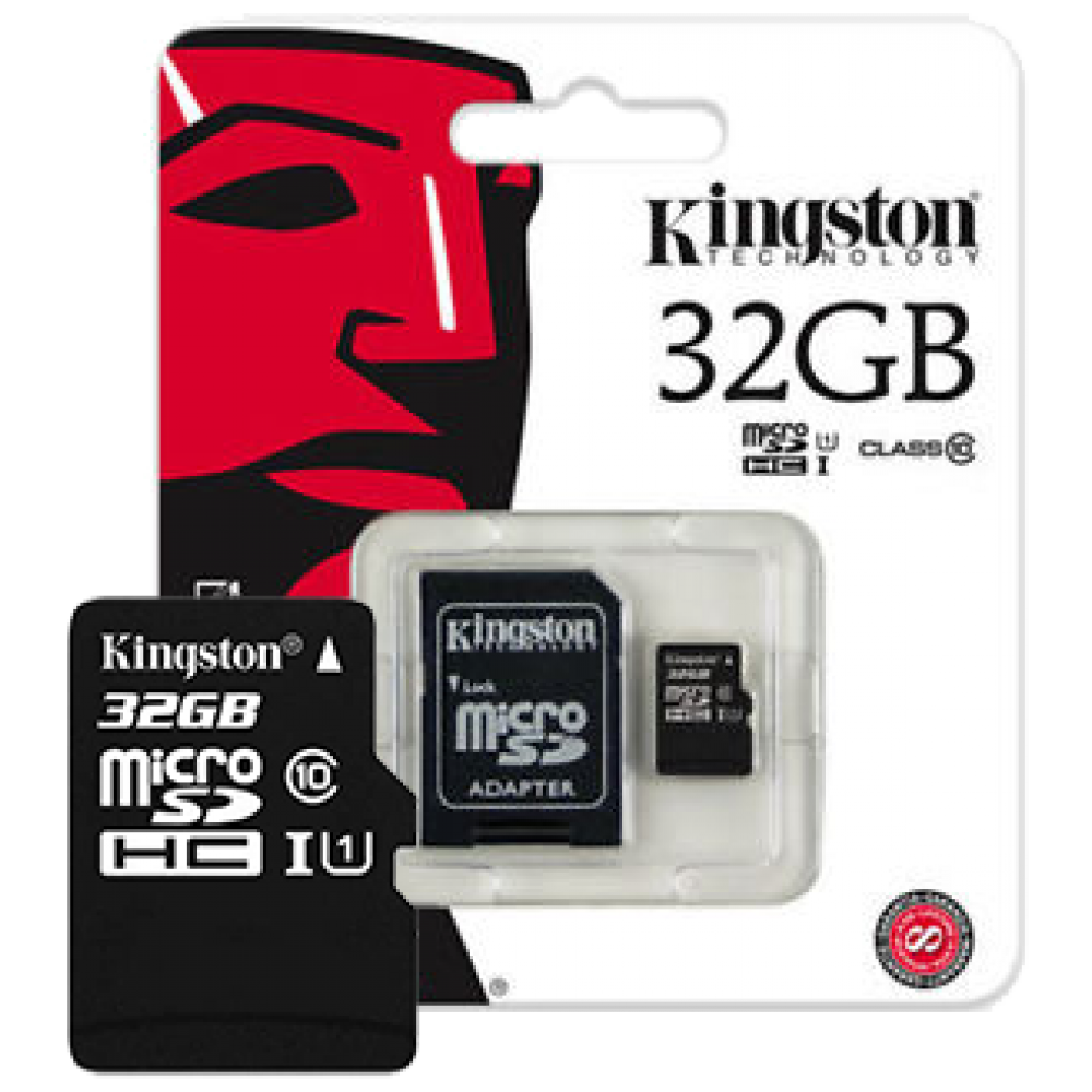 Kingston microSDHC UHS-I Class 10 32GB + SD адаптер