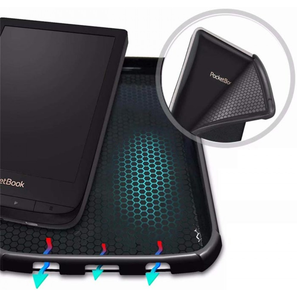 Чехол для PocketBook 627 / 616 / 632 / Touch Lux 4 голубой