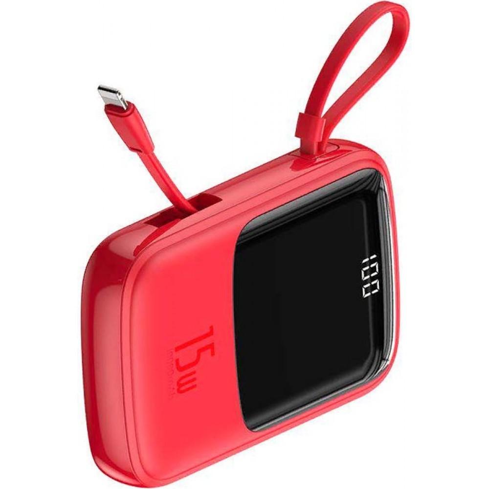 Baseus Qpow Digital Display 3A Power Bank 10000mAh PPQD-A09 Red