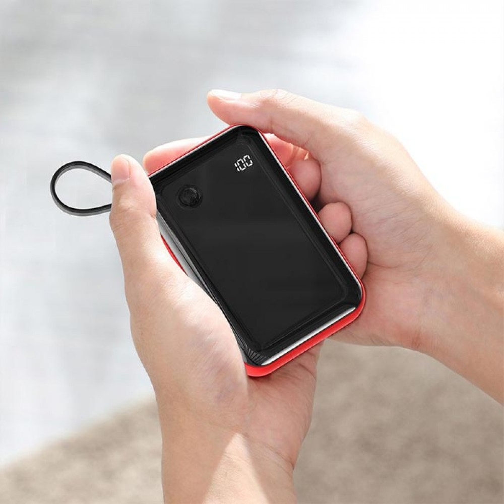 Baseus Mini S Digital Display 3A Power Bank 10000mAh With Type-C Cable PPXF-A01