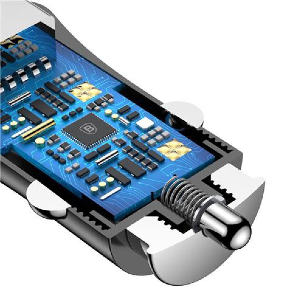 Автомобильная зарядка Baseus CCAL-GB01 на 2 USB порта
