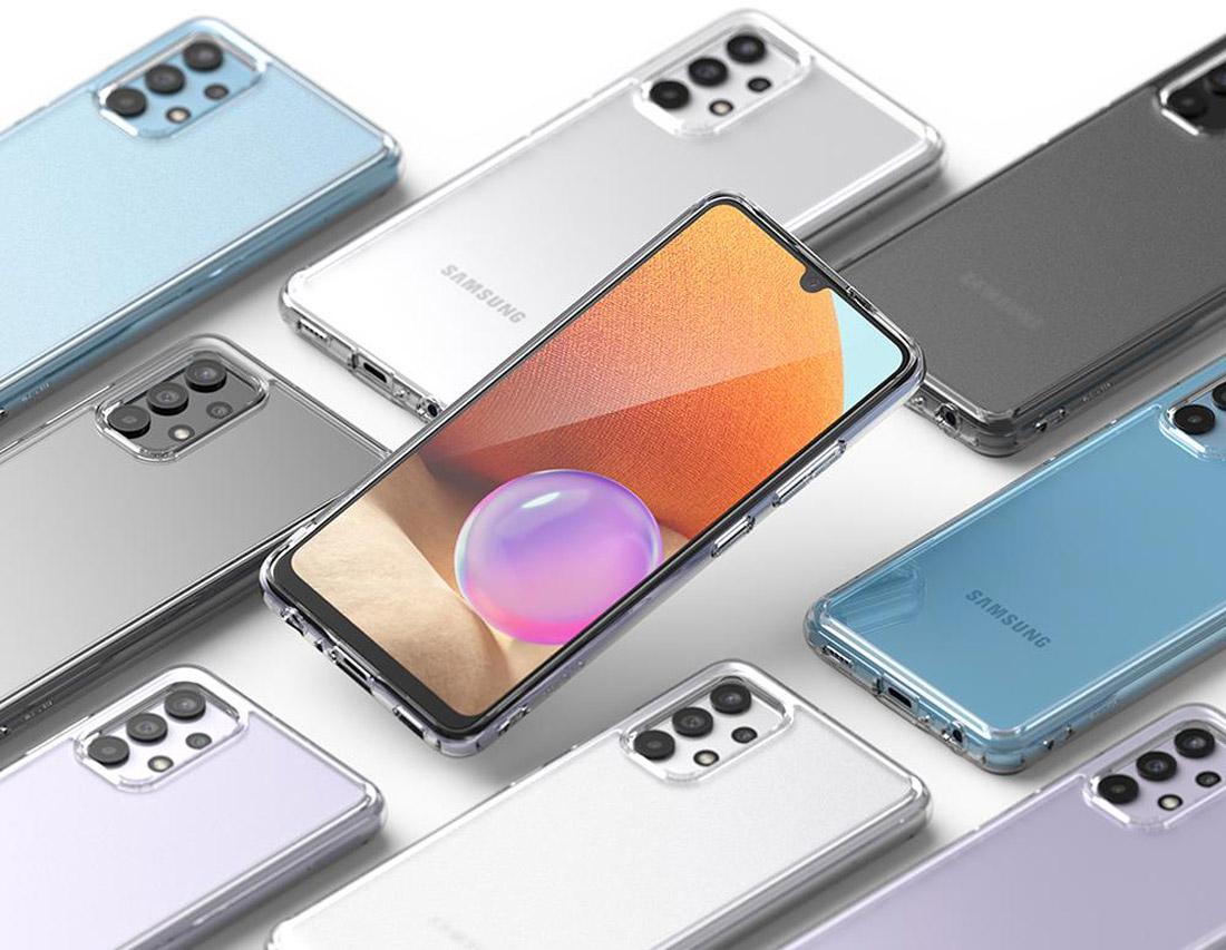 Чехол для Samsung Galaxy A32 4G прозрачный силиконовый
