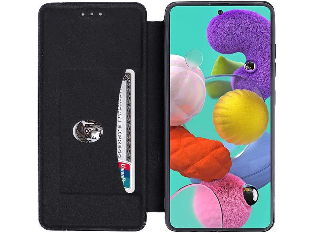Чехол-книжка для Samsung Galaxy A51 черного цвета