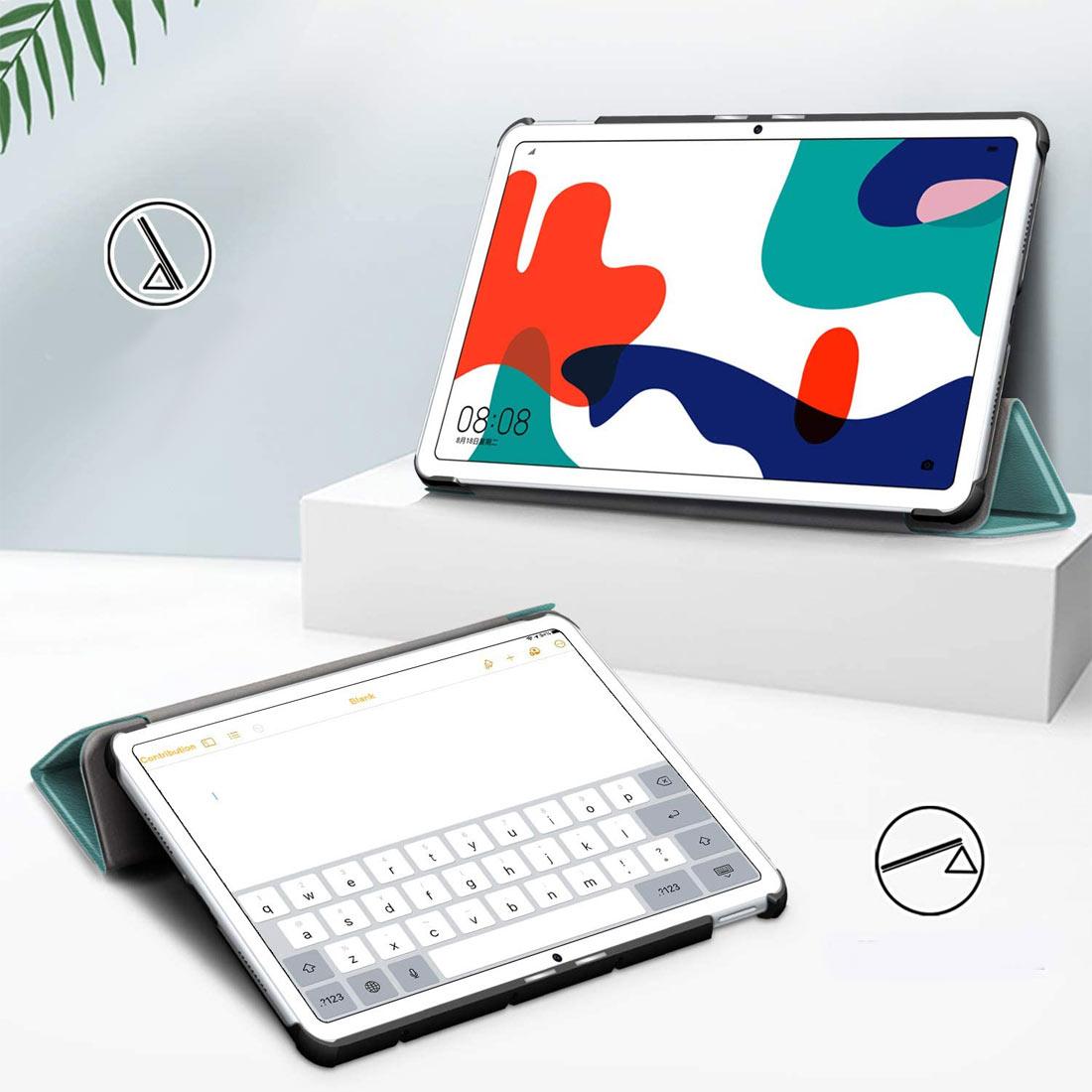Чехол для Huawei MatePad 10.4 бирюзовый полиуретановый