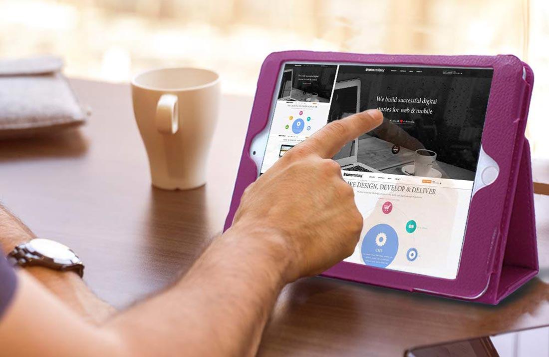 Чехол для iPad Mini 5 2019 кожаный фиолетовый